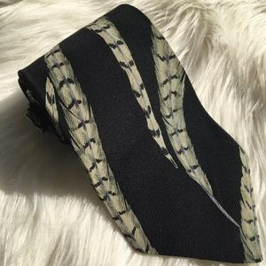 "Perry Ellis Black Feather Tie 3.75""x57"""